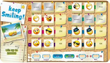 Scratch2Cash lanserar skraplotten Keep Smiling